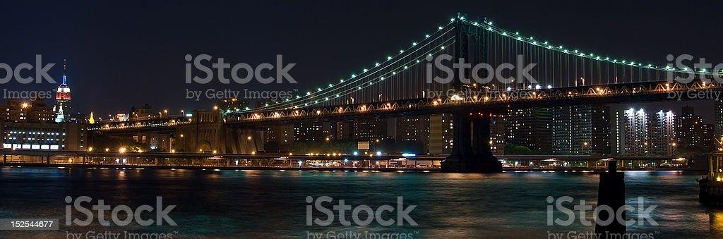 Manhattan Bridge Panoramic royalty-free stock photo