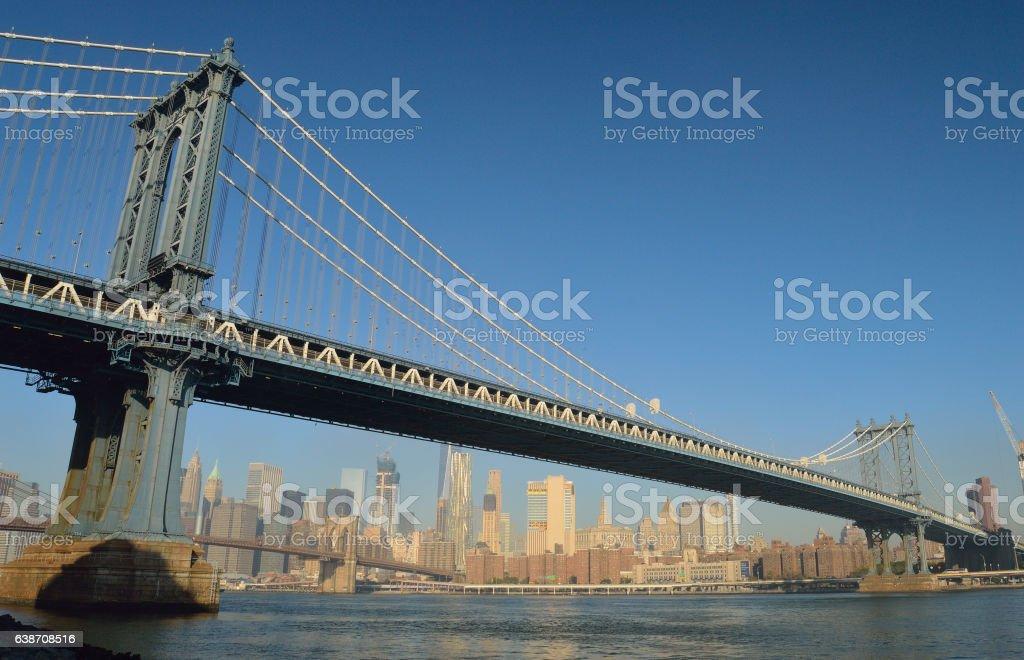 Manhattan Bridge. stock photo