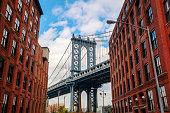 Manhattan Bridge seen from Dumbo, Brooklyn, New York City
