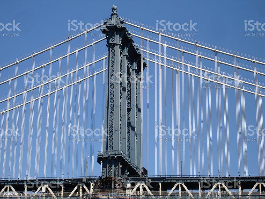 Manhattan Bridge Tower royalty-free stock photo