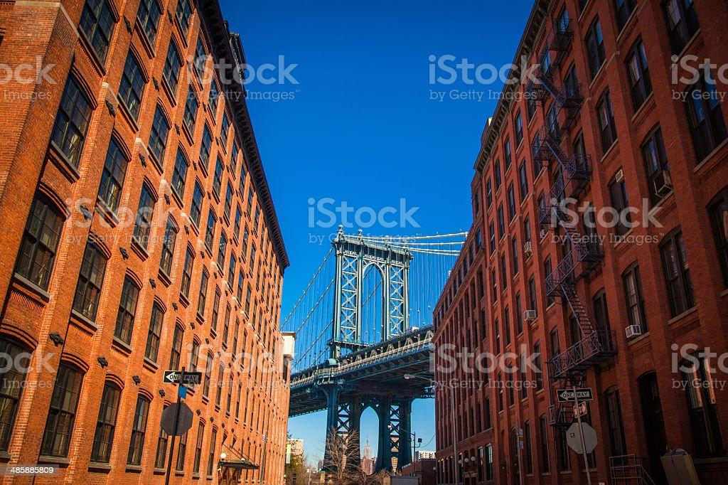 Manhattan Bridge view royalty-free stock photo