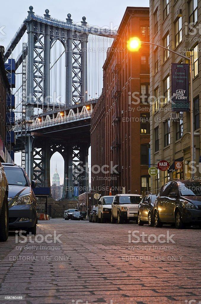 Manhattan Bridge,NYC royalty-free stock photo