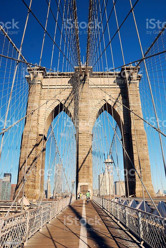 Manhattan Brooklyn Bridge closeup royalty-free stock photo