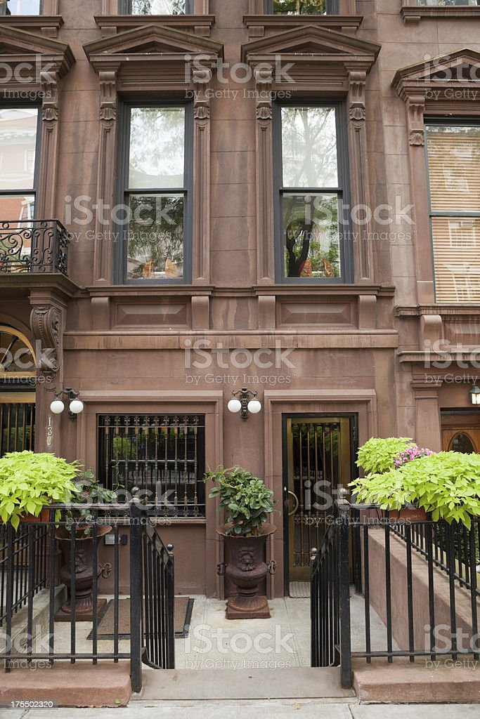 Manhattan Brownstone stock photo