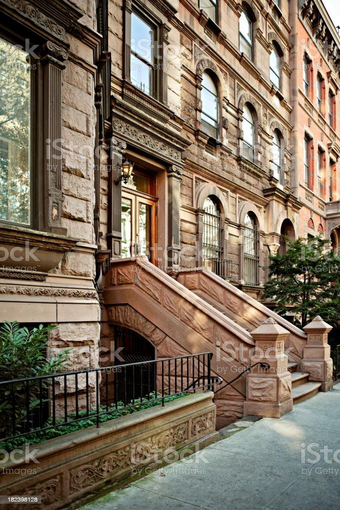 Manhattan Brownstones stock photo