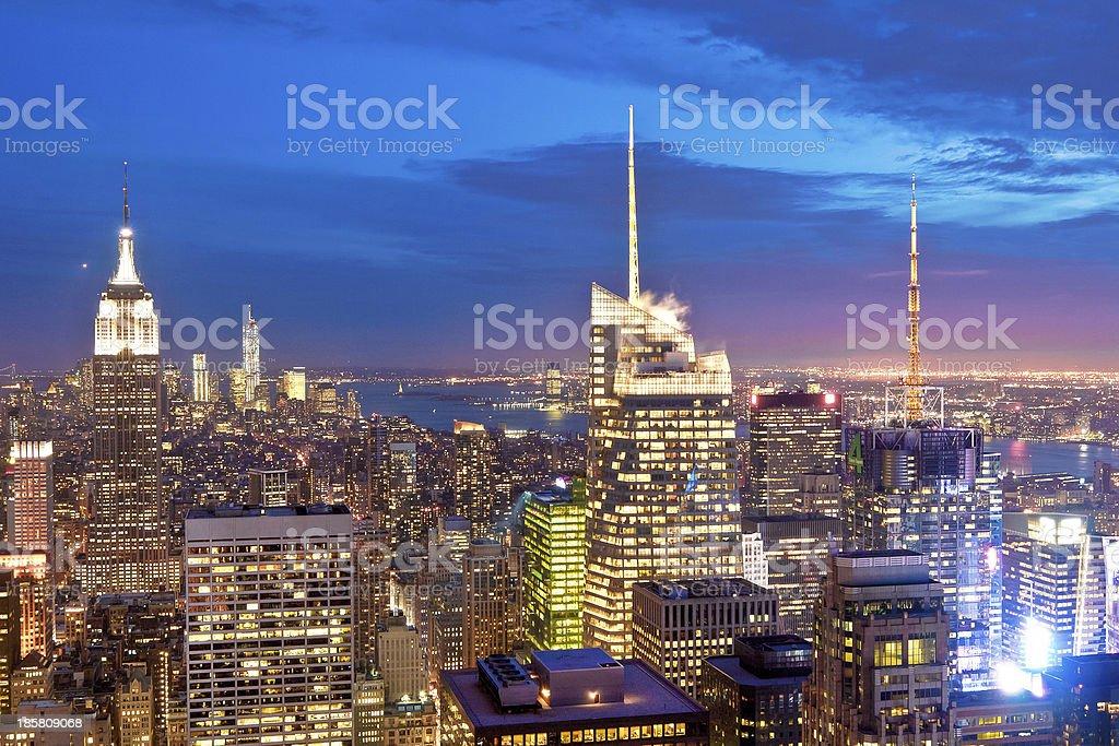 Manhattan buildings, New York City, USA royalty-free stock photo