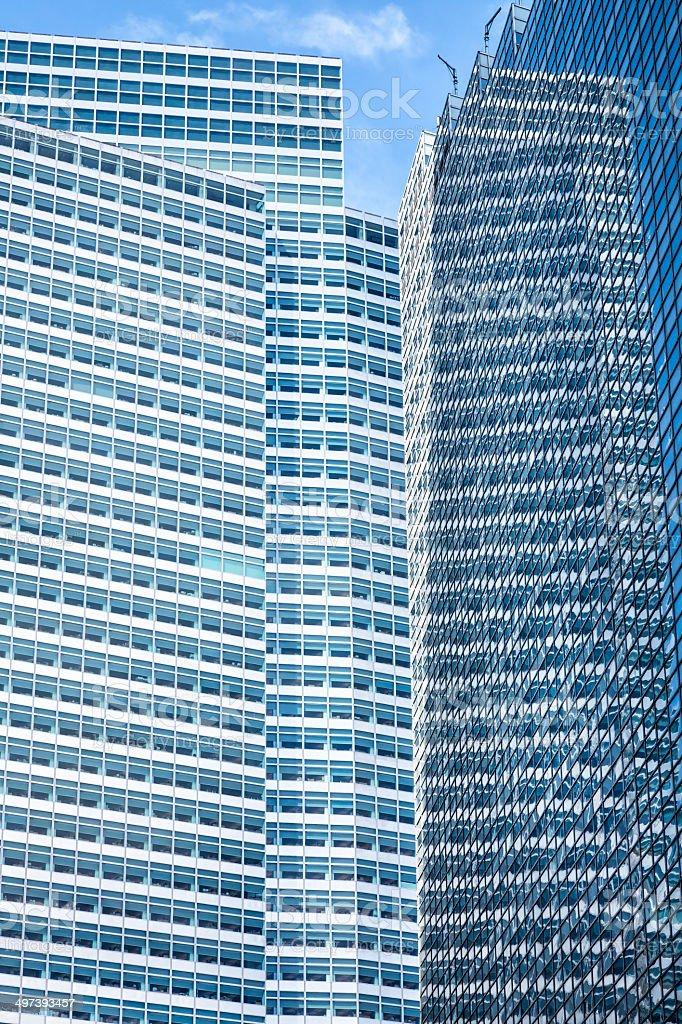 Manhattan Business Buildings, New York City royalty-free stock photo