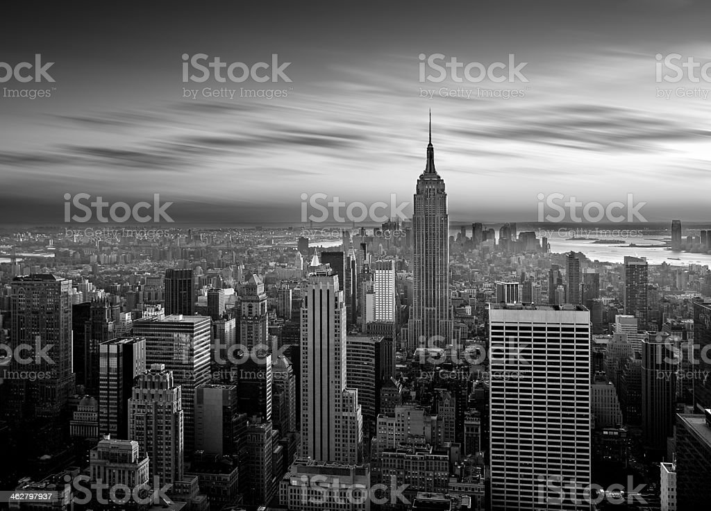 Manhattan b&w royalty-free stock photo