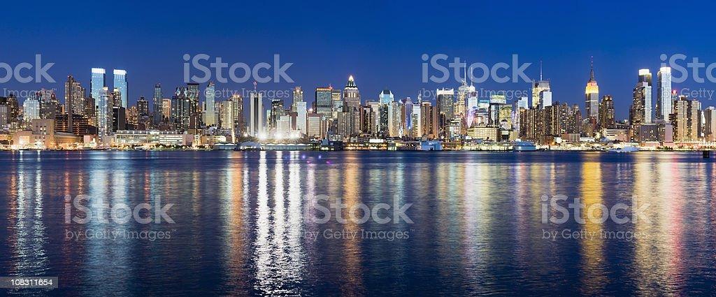Manhattan City Skyline New York USA royalty-free stock photo