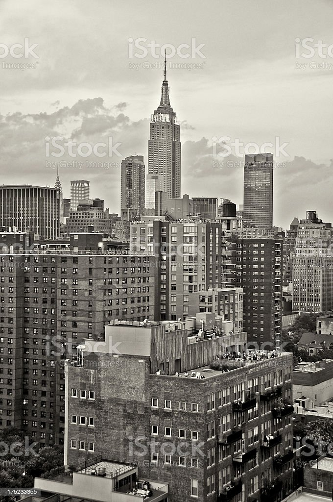 Manhattan Cityscape view from Chelsea, New York City stock photo