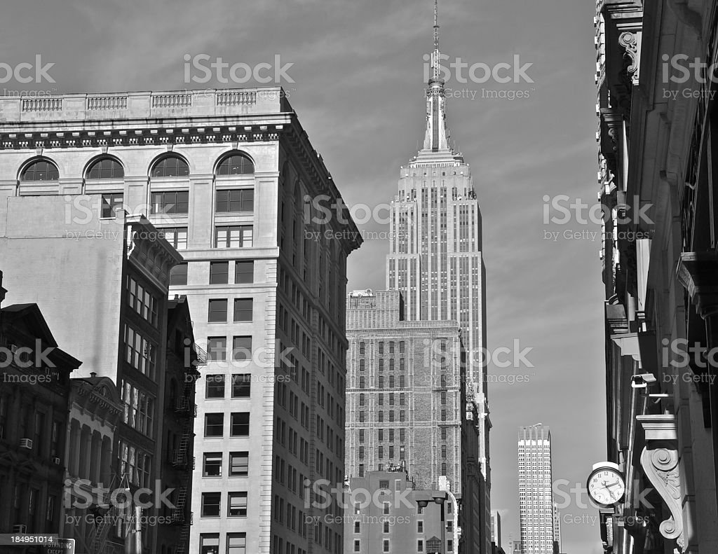Manhattan cityscape view with Empire State Building, NYC royalty-free stock photo