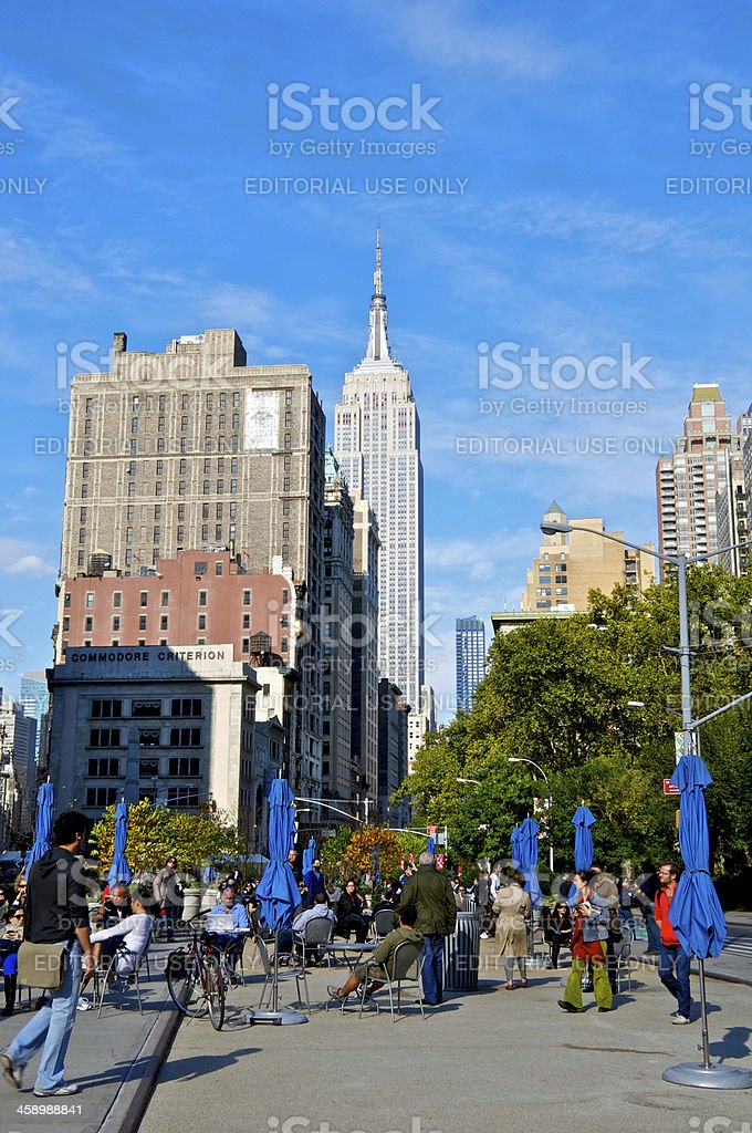 'Manhattan cityscape view with Empire State Building, NYC' stock photo