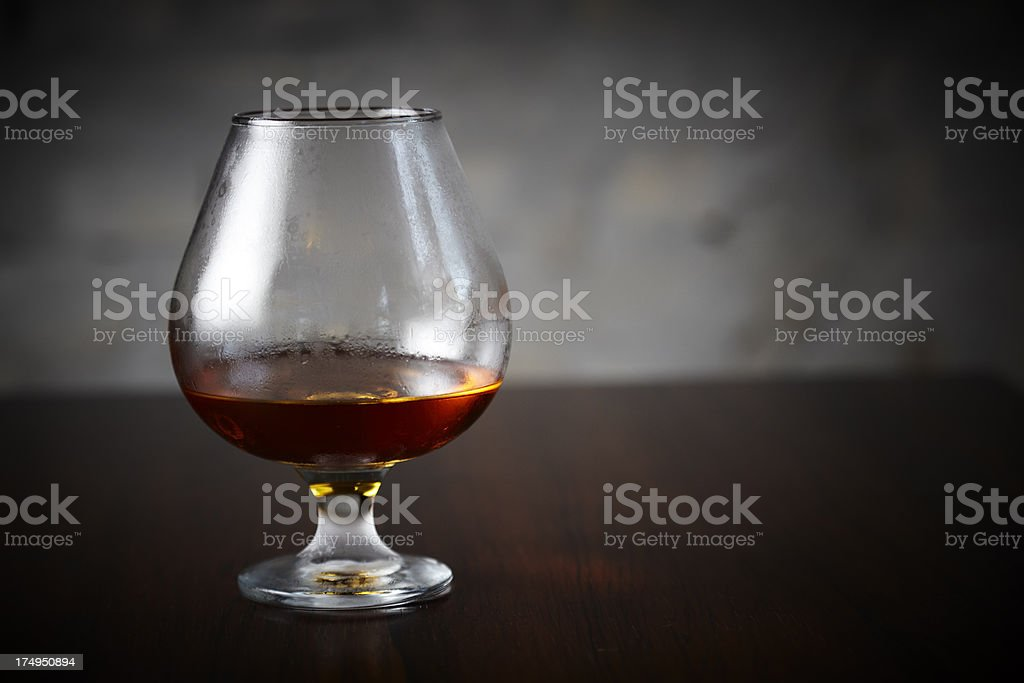 Manhattan cocktail on bar stock photo