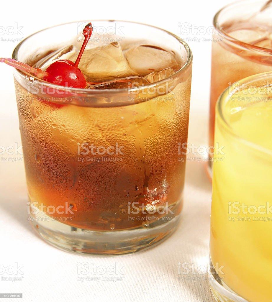 Manhattan Cocktail On The Rock stock photo