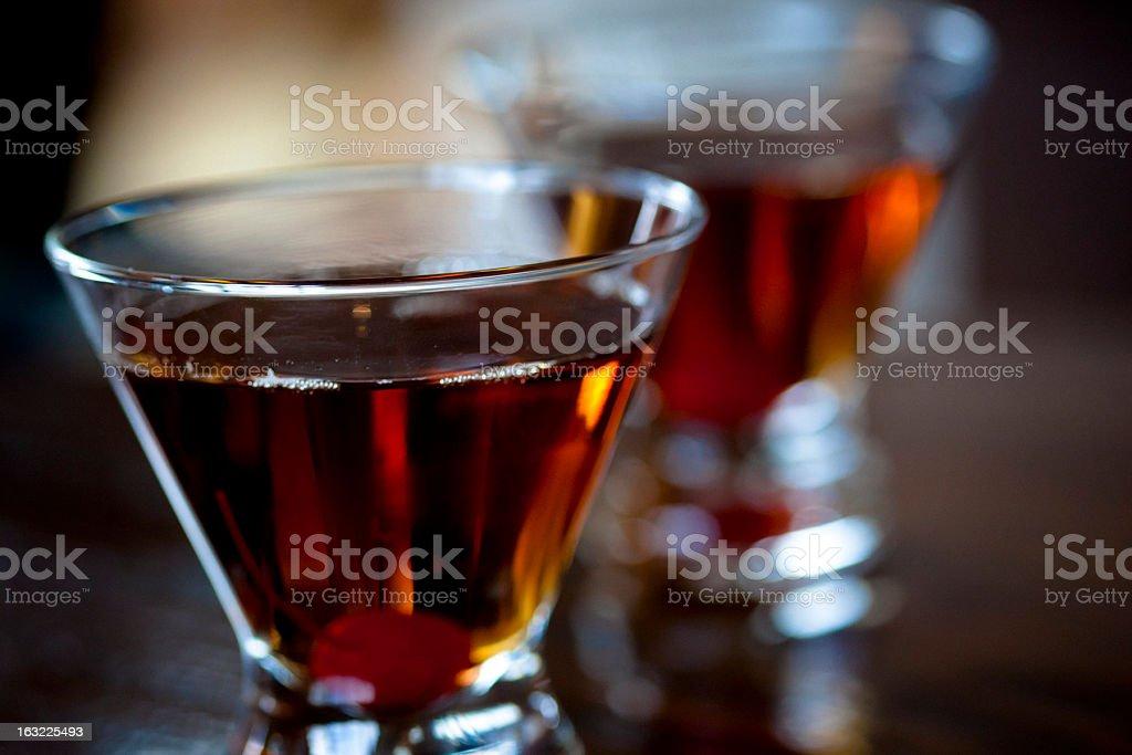 Manhattan cocktails royalty-free stock photo