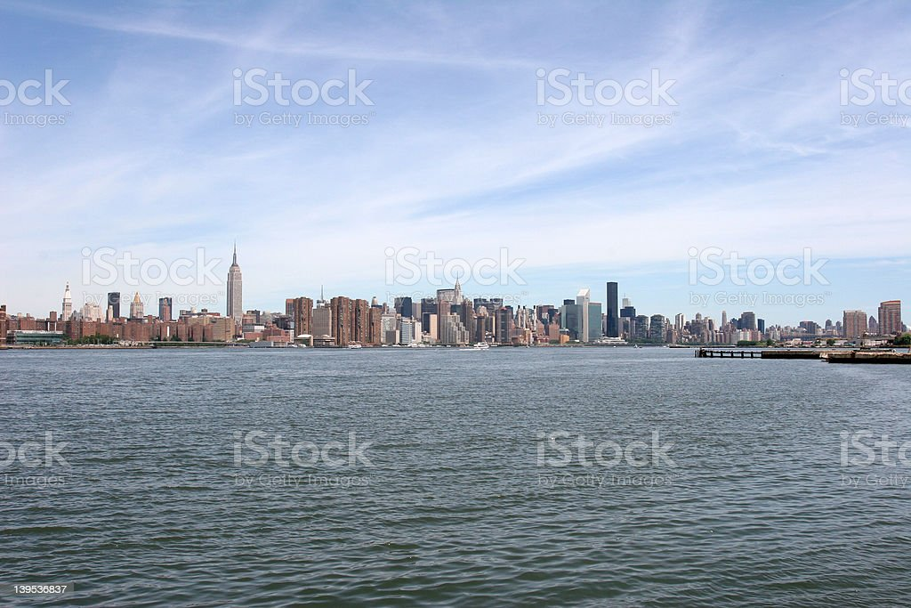 Manhattan East River clean royalty-free stock photo