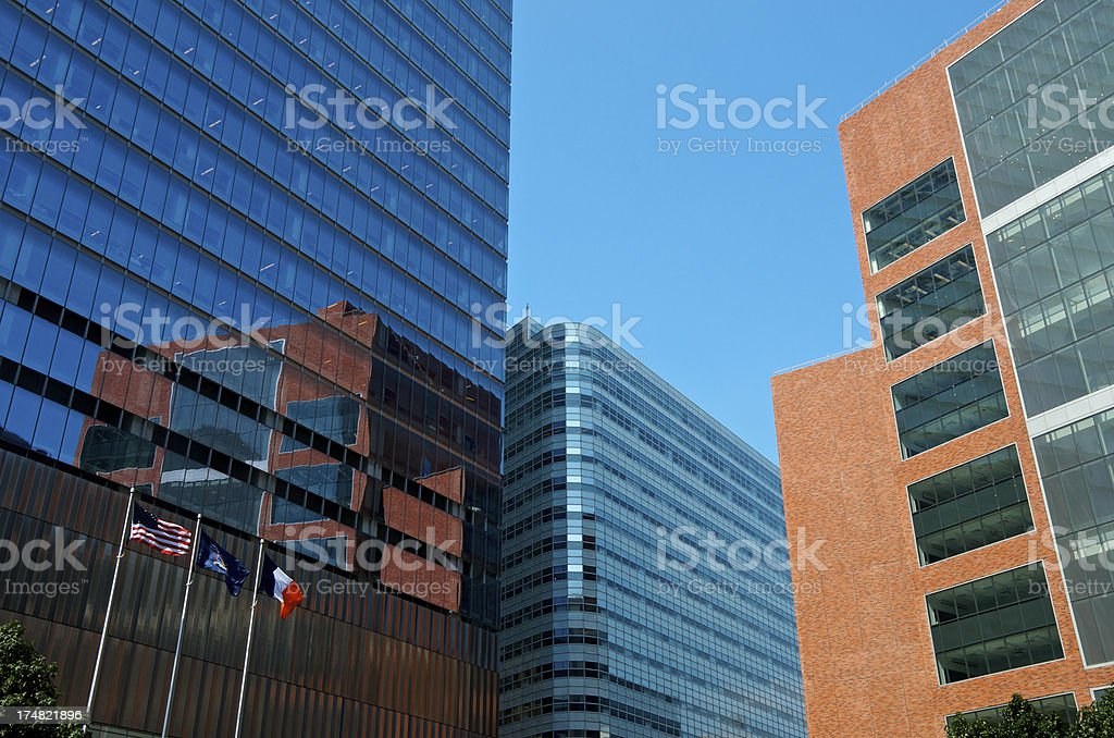 Manhattan Financial District Cityscape, New York City stock photo
