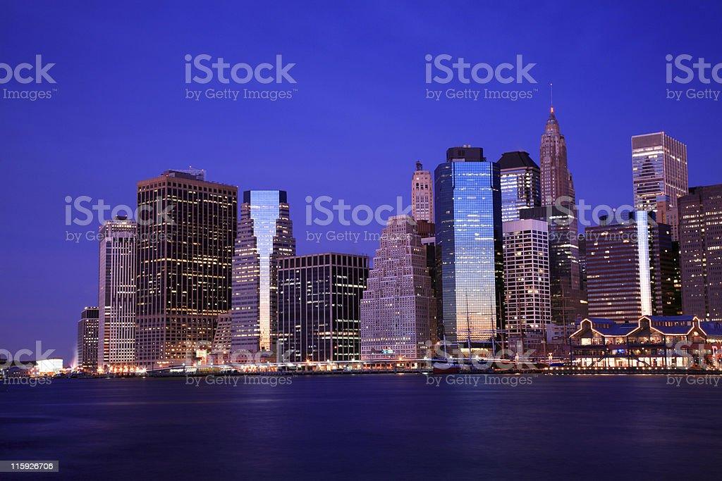 Manhattan Financial District, New York royalty-free stock photo