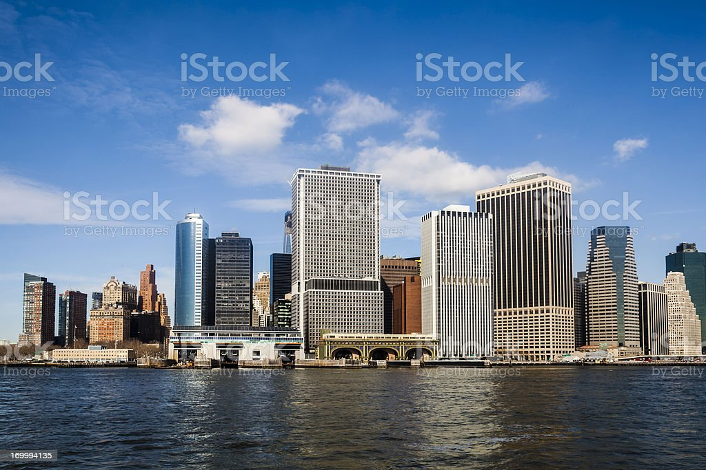 Manhattan Financial District royalty-free stock photo