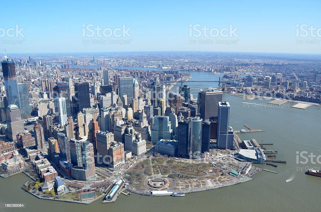 Manhattan Financial District royalty-free stock photo