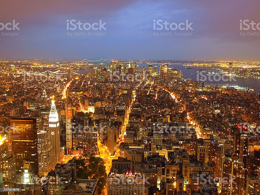 Manhattan from above royalty-free stock photo