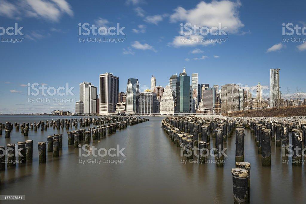 Manhattan von Brooklyn Lizenzfreies stock-foto