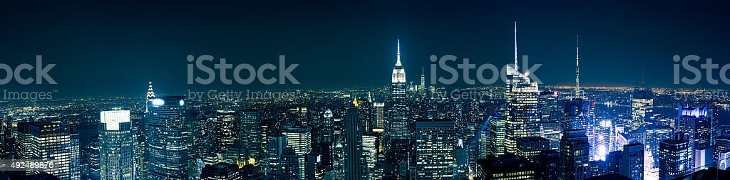 Manhattan from the roof top stock photo