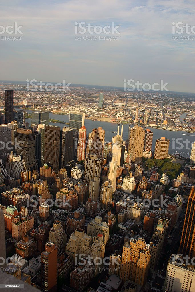 Manhattan from the top of the empire state building royalty-free stock photo