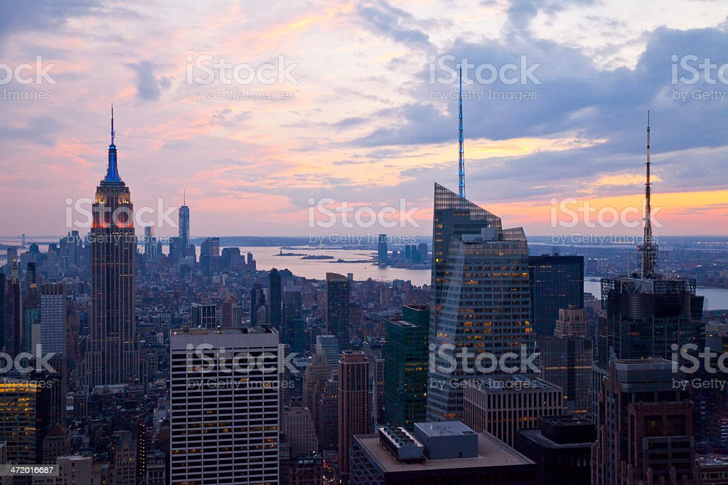 Manhattan in New York City royalty-free stock photo