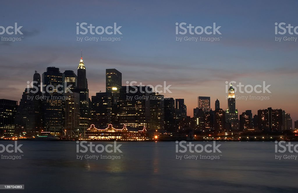 Manhattan lights royalty-free stock photo