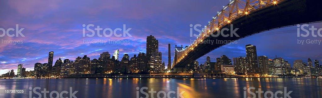 Manhattan midtown panorama royalty-free stock photo