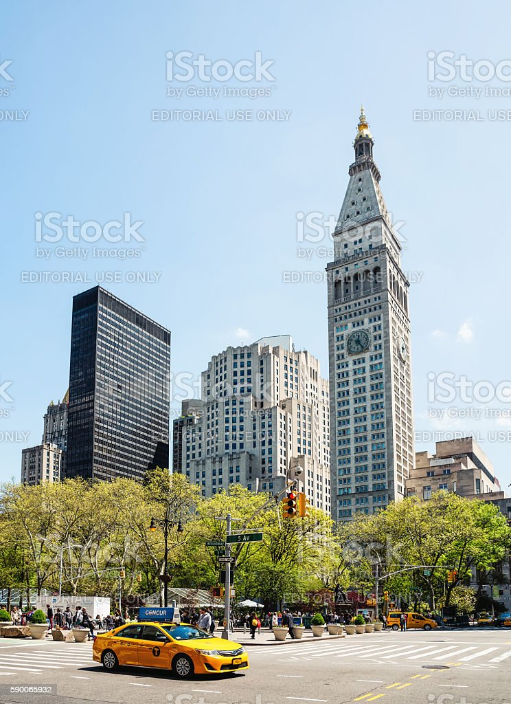 Manhattan modern architecture stock photo