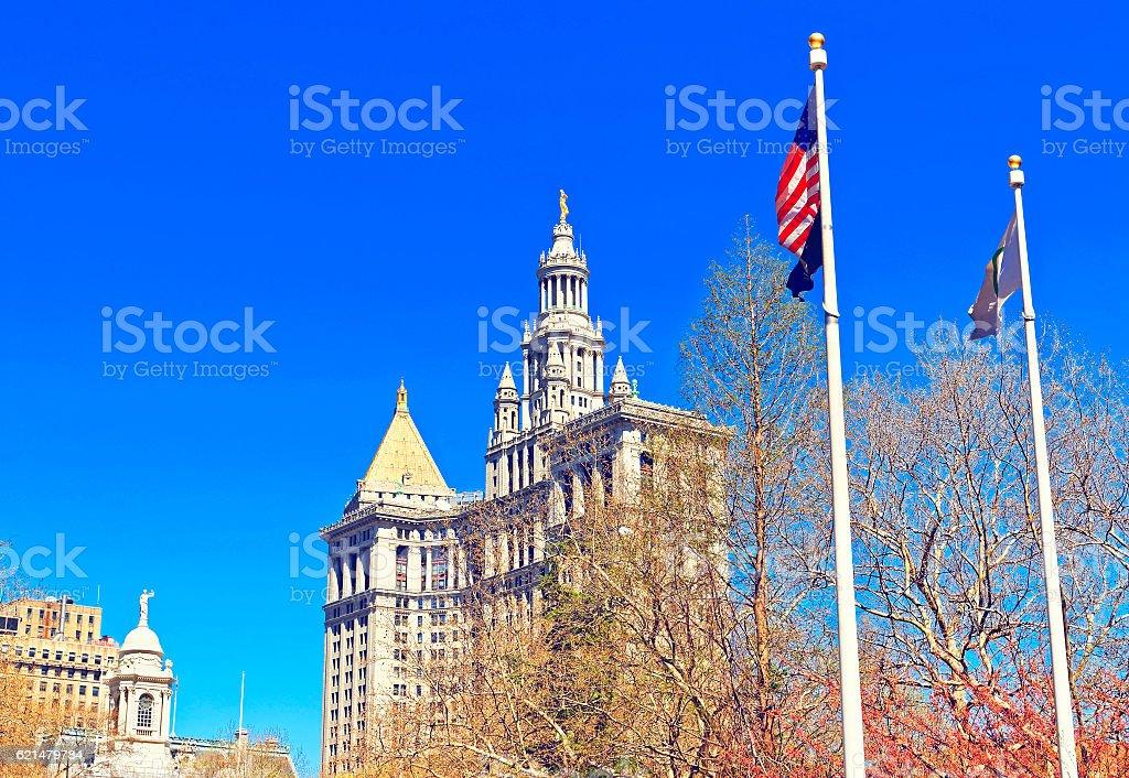 Manhattan Municipal Building in Lower Manhattan stock photo