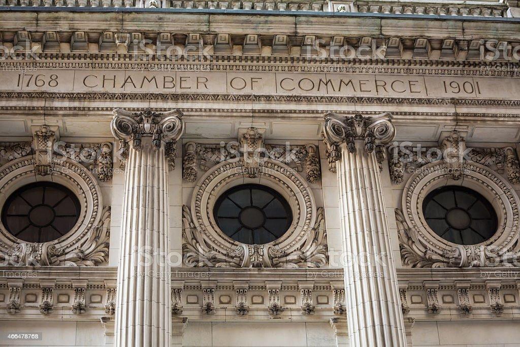 Manhattan New York chamber of commerce US stock photo