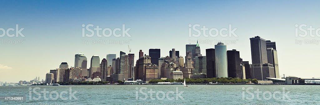 Manhattan New York City Panorama royalty-free stock photo