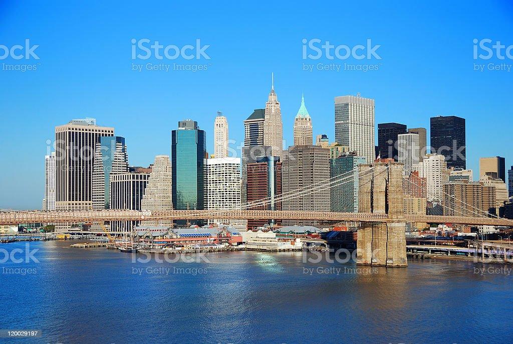 Manhattan New York City skylin royalty-free stock photo