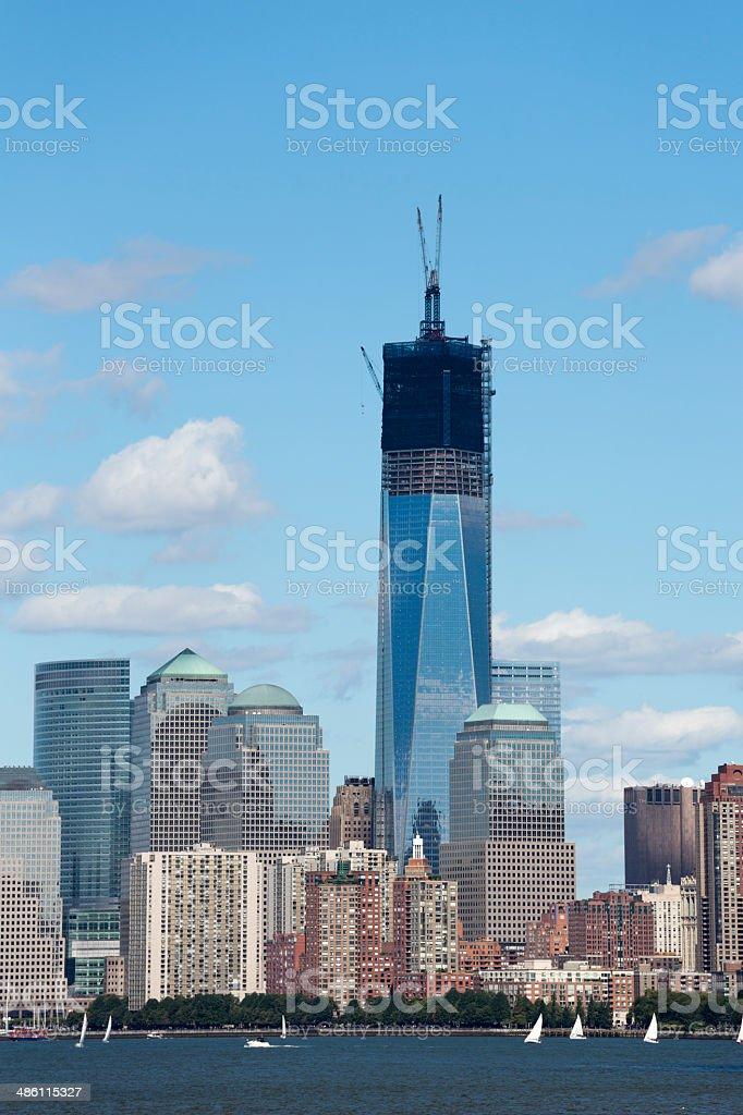 Manhattan New York City Skyline in Summer royalty-free stock photo