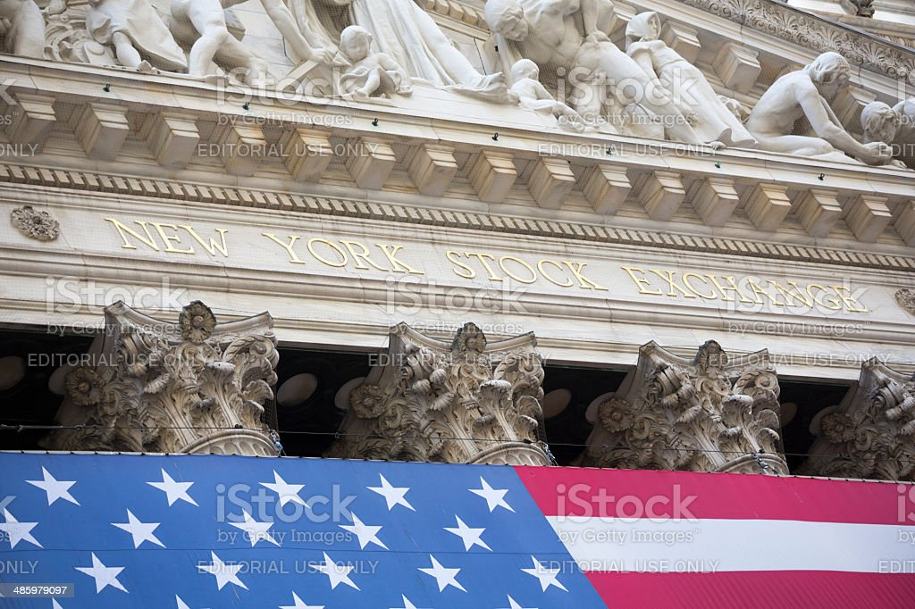 Manhattan New York City Stock Exchange royalty-free stock photo
