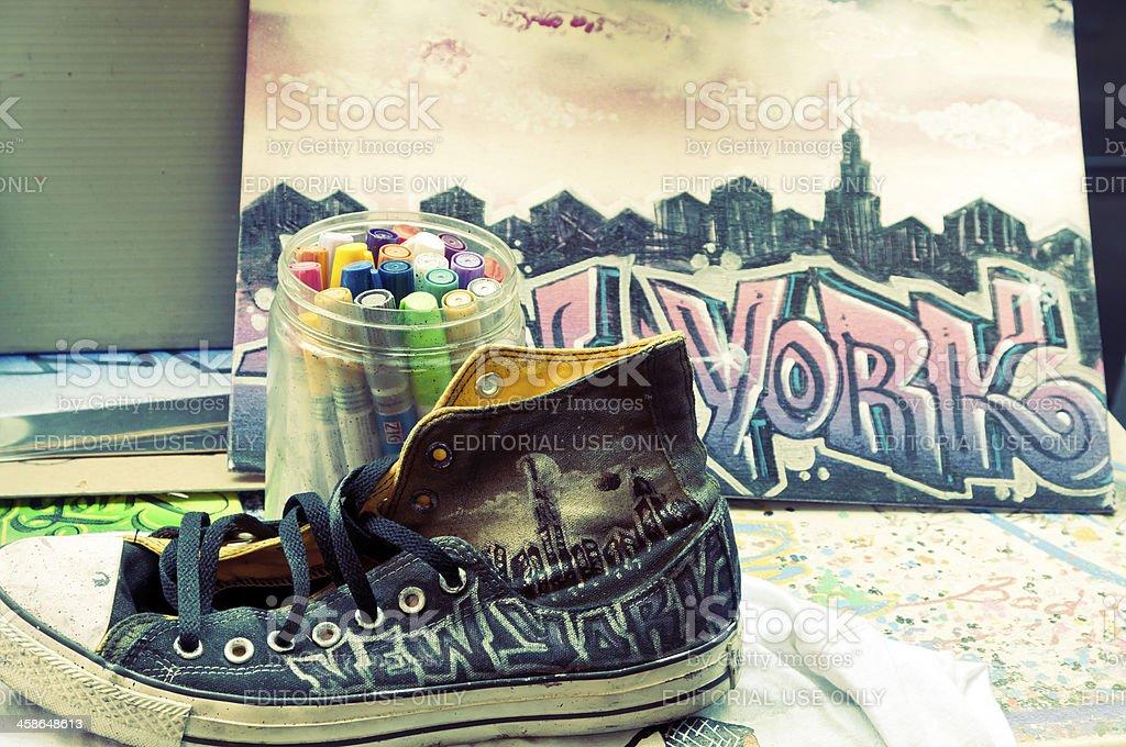 Manhattan, New York City street art royalty-free stock photo