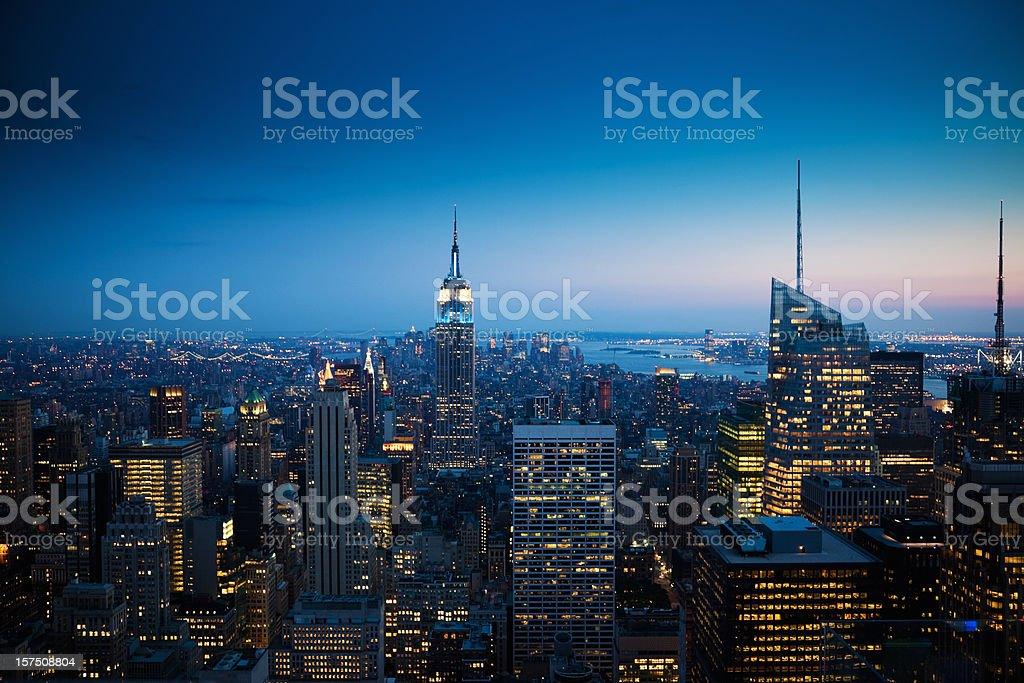 Manhattan New York City Sunset royalty-free stock photo