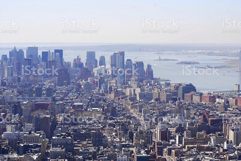 Manhattan, New York City, USA  aerial View royalty-free stock photo