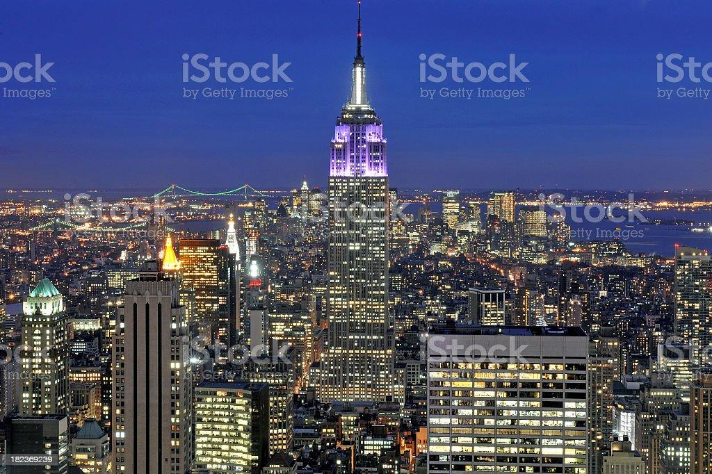 Manhattan nights royalty-free stock photo