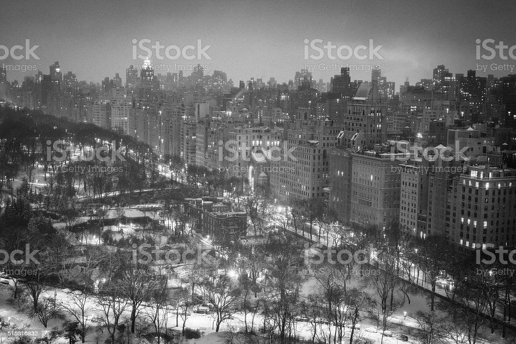 Manhattan, NYC evening skyline stock photo
