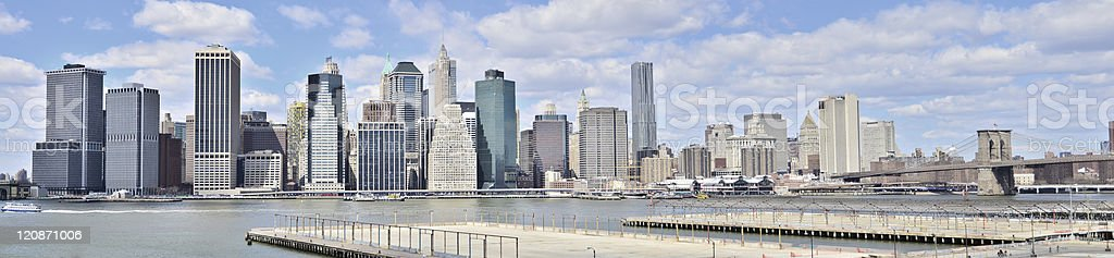 Manhattan - panorama royalty-free stock photo