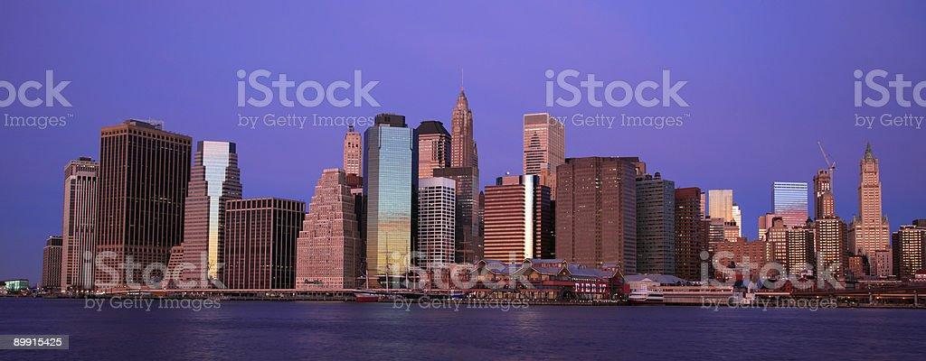 Manhattan Panoramic royalty-free stock photo