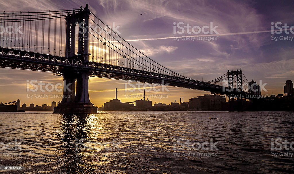 Manhattan River Walk royalty-free stock photo