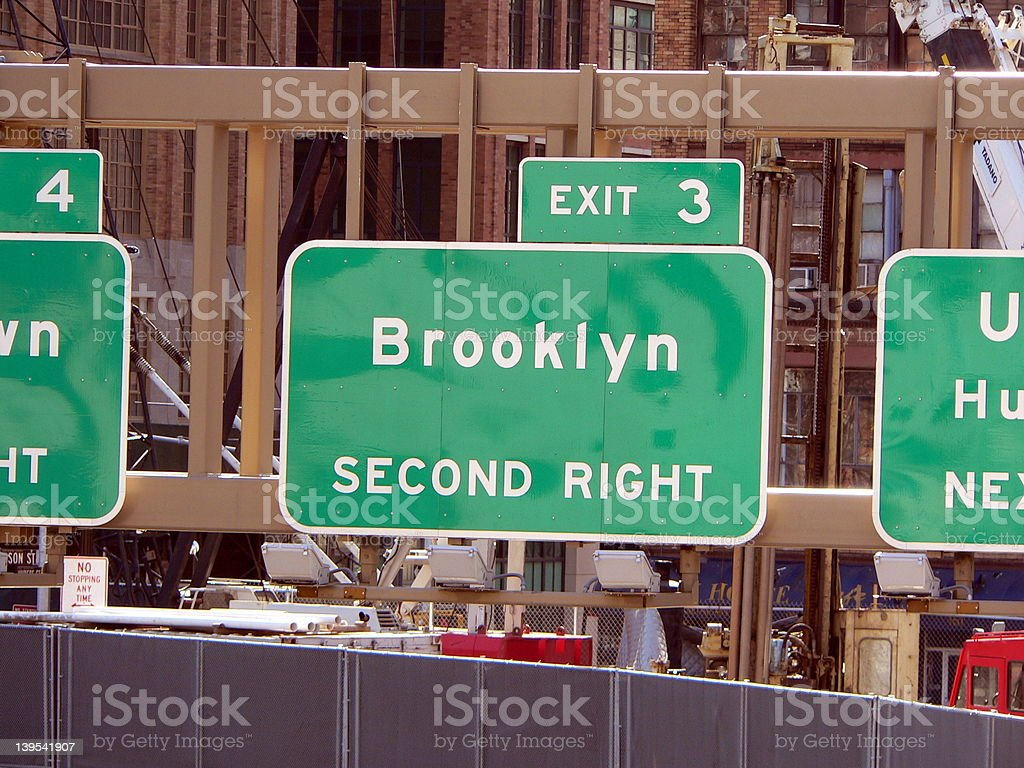 Manhattan Sign Series - Brooklyn, New York City royalty-free stock photo