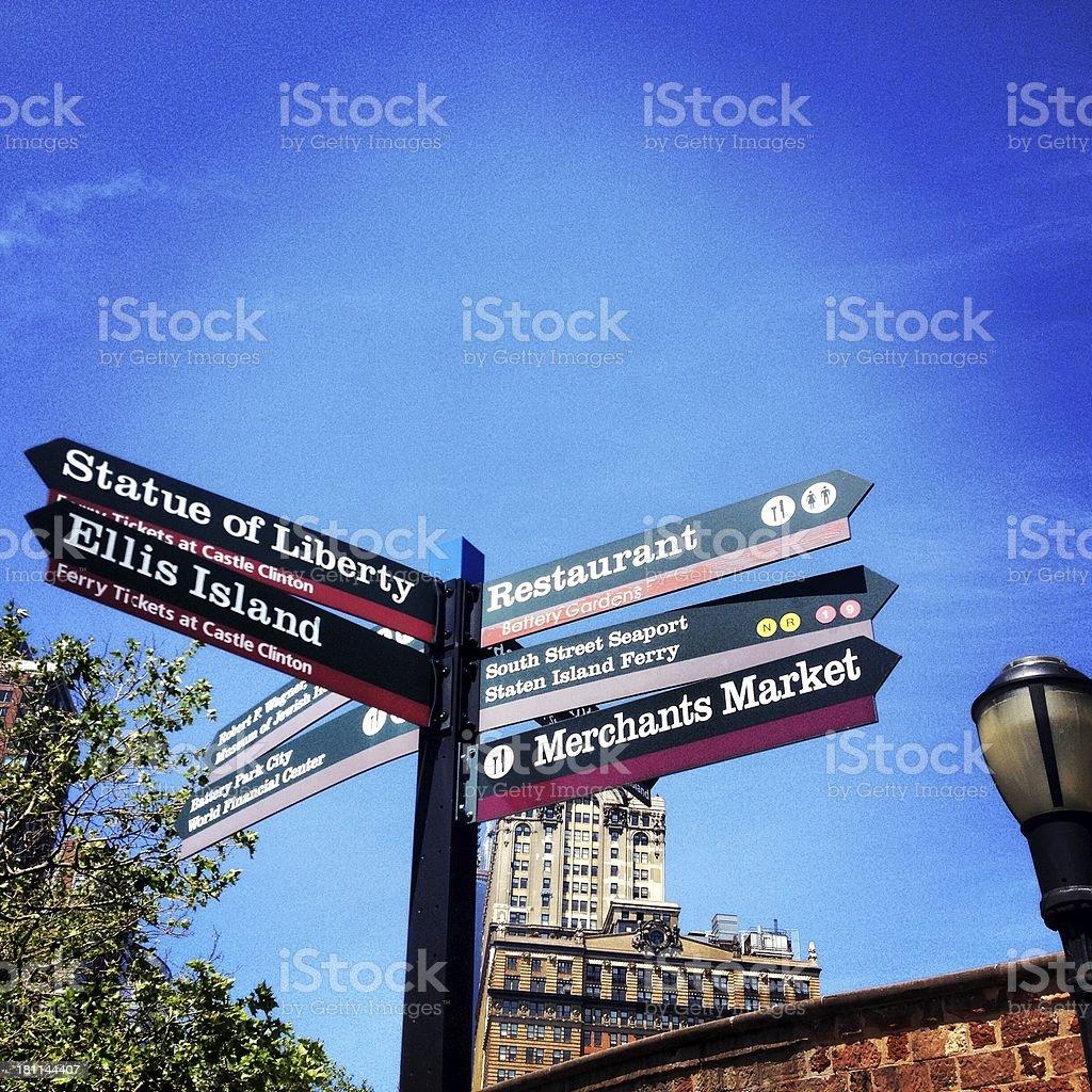 Manhattan Signs royalty-free stock photo