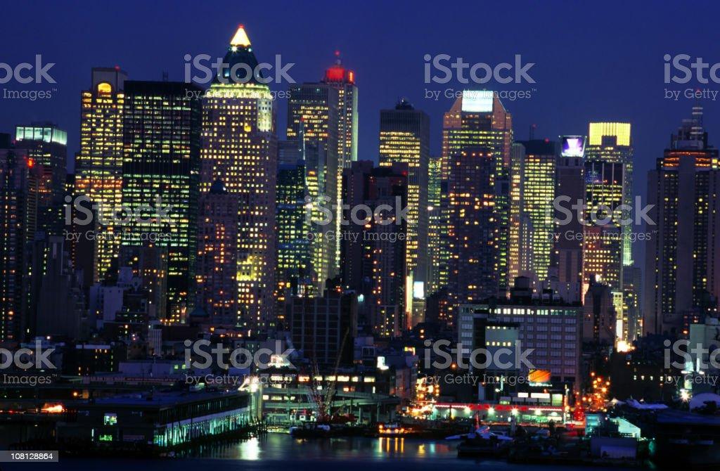 Manhattan Skyline across the Hudson River, New York royalty-free stock photo