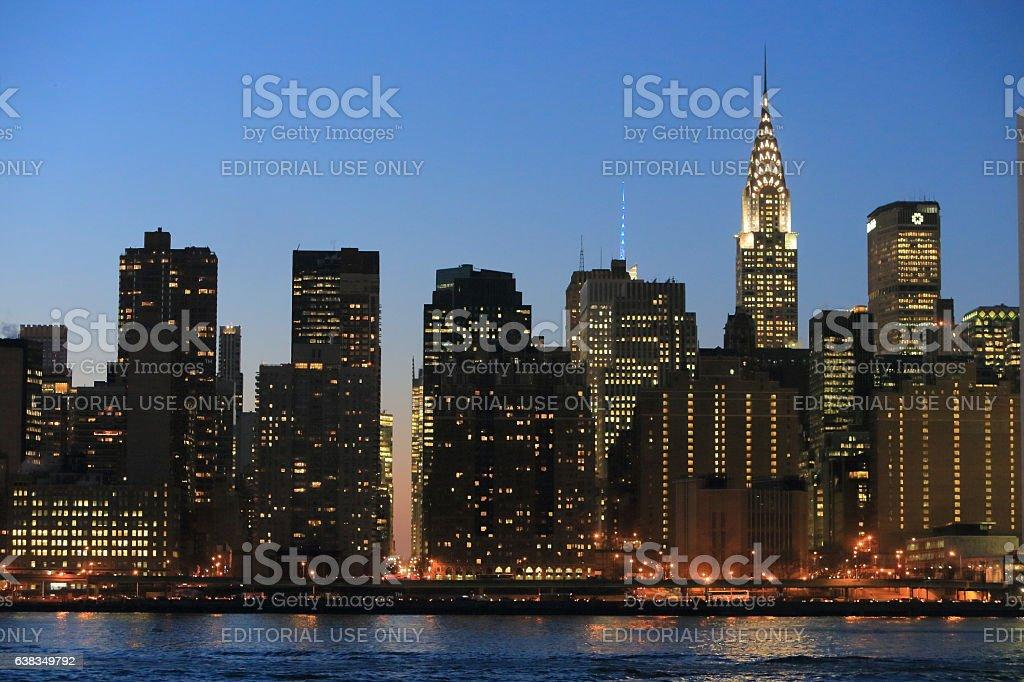 Manhattan skyline from Long Island City stock photo